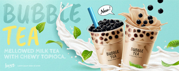 Bubble tea banner ads