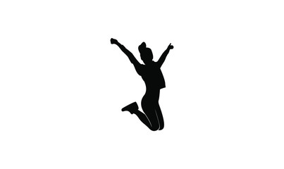 young people jump fun logo icon design vector