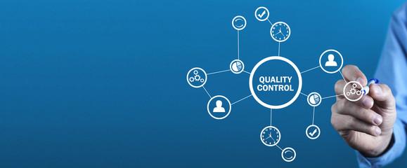 Obraz  Quality control, Industry, Technology, Internet, Business - fototapety do salonu