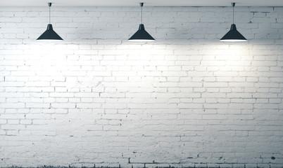 room white brick grunge wall