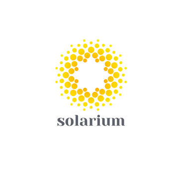 Vector logo design template for solarium. Sun abstract icons.