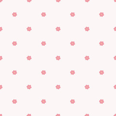 Türaufkleber Künstlich Flower seamless pattern background. Vector illustration.