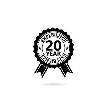 20 years experience web icon illustration isolated on white background