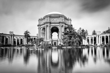 Palace of Fine Art in Black and White.
