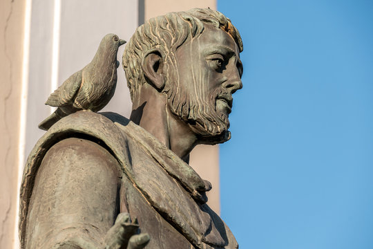 Bronze Statue of St Francis of Assisi, Italy