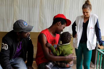 MSF Kenya Programmes-Kiambu project coordinator Jung speaks with recovering drug addicts at the Karuri hospital in Kiambu