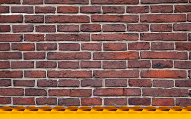 Place for your text in a brick wall
