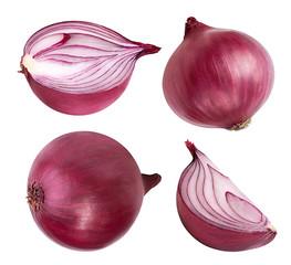 Fototapete - Purple onion isolated on white background.