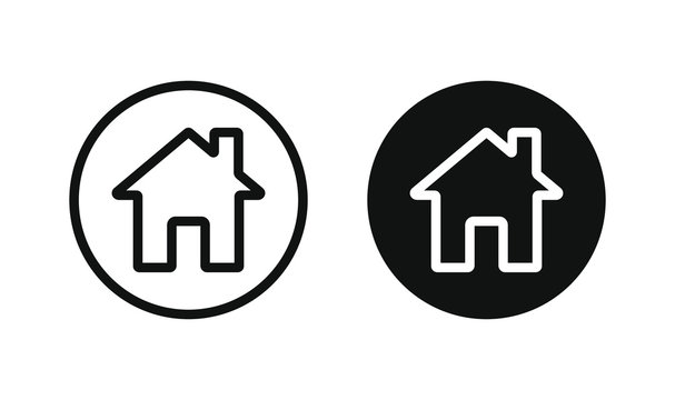 Home vector icon. House, real estate, residential symbol. Web home interface sign isolated on white background.