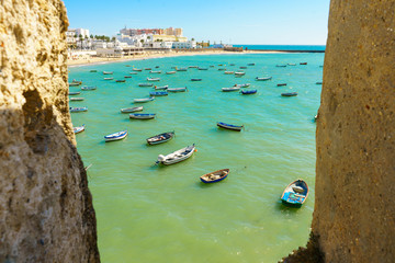 La Caleta beach in Cadiz, Spain, Andalusia