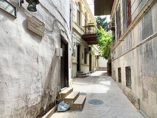 Muslim Magomayev street in the old town of Icheri Sheher. Azerbaijan, Baku city
