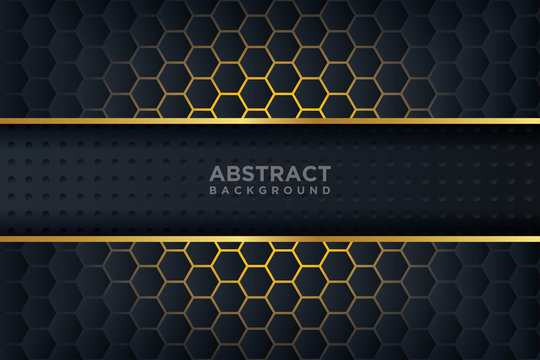 Abstract 3D background with a combination of luminous polygons in 3D style. Graphic design element. Elegant decoration.