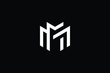 Outstanding professional elegant trendy awesome artistic black and white color M MM initial based Alphabet icon logo.