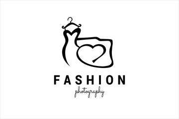 Fashion photography logo template