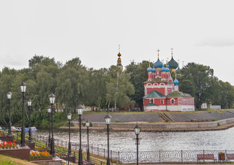 Uglich. Yaroslavl region. Uglich hydroelectric power station.