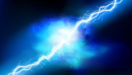 Fototapeta Heat lighting. Electrical energy. Light effects. Vector illustration.