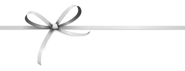 silver colored ribbon bow Fototapete