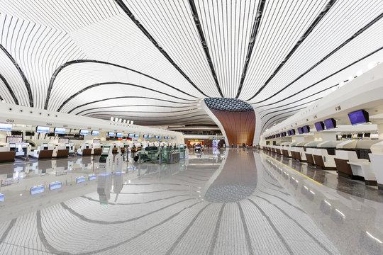 Beijing Daxing New International Airport Terminal in China