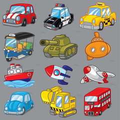 Photo sur Toile Cartoon voitures 12 Vector transport, Cartoon transport