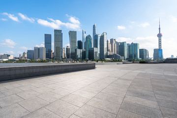 Wall Mural - city skyline in shanghai china