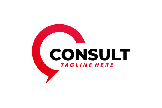 consult logo icon vector isolated