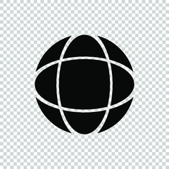 ball icon vector isolated on tranparent background