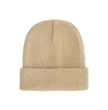 Bage beanie winter hat isolated on white background with clipping path.