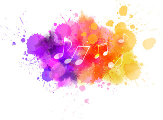 Music colorful background