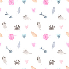 Watercolor set. Hand painted Illustration isolated on white background.