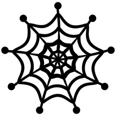 Spider web. Vector Illustration of a spider web. Silhouette