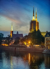 Cathedral Island in Wroclaw, Poland
