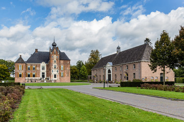 Medieval castle Cannenburch in Vaassen, Gelderland in the Netherlands