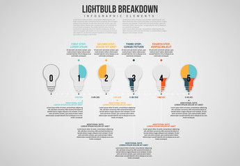 Lightbulb Breakdown Info Chart Layout