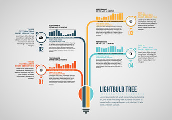 Lightbulb Tree Info Chart Layout