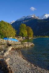 Lake Brienz & Brienzersee in early evening, Switzerland