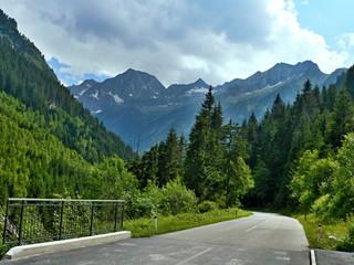 Austrian Alps-outlook on the Zillertal Alps