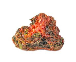 Orange crystals of crocoite