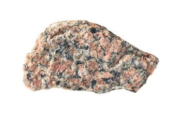 Granite stone on a white background
