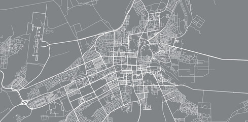 Urban vector city map of Al Ain, United Arab Emirates Fototapete