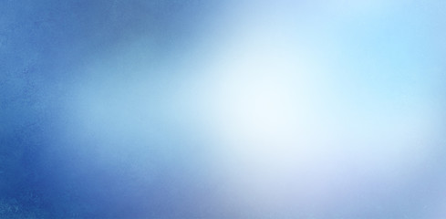 blue and white background texture, vintage paper with dark textured blue border and cloudy white center with soft gradient blur design
