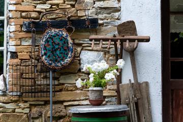 Arrangement of traditional Bulgarian elements of decoration, Kosti, Bulgaria