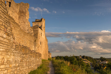 Wall Mural - Ruins of the medieval castle of the Livonian knight's order at sunset. , Rakvere