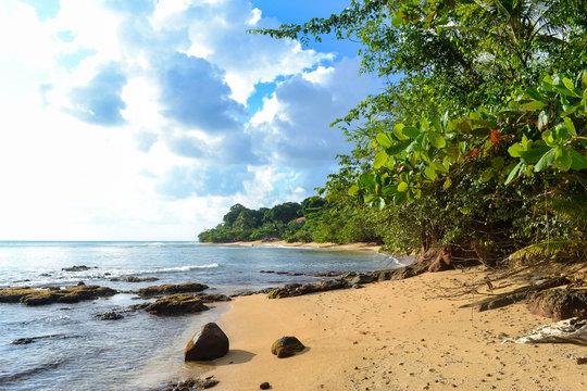 Beach at Little Corn Island in Niceragua
