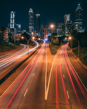 Time lapse photography of road with vehicles