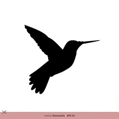 Hummingbird - Bird Silhouette Vector Logo Template Illustration Design. Vector EPS 10.