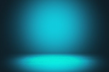 Fotobehang - Abstract blue gradient interior