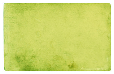 Green paper texture background - clipping path included  Wall mural
