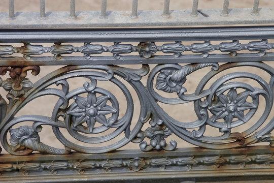 metal scroll work railing