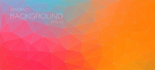 color background with triangle circle shapes for web design
