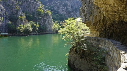 Fototapeta colorful matka canyon in northern macedonia obraz